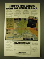 1979 Westours Alaska Vacations Ad - Find What's Right