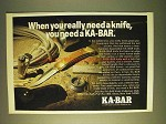1979 Ka-Bar Knives Ad - When You Really Need