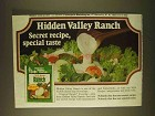 1979 Hidden Valley Ranch Dressing Ad - Secret Recipe