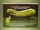 1979 Claussen Pickles Ad - Best On Grocer's Shelf