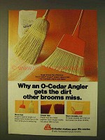 1979 O-Cedar Angler Broom Ad - Gets the Dirt