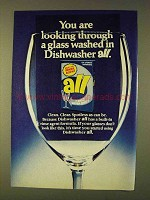 1979 All Dishwasher Detergent Ad - Through a Glass