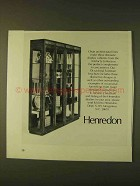 1979 Henredon Artefacts Collection Display Cabinets Ad