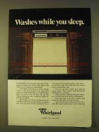 1979 Whirlpool Dishwasher Ad - Washes While You Sleep