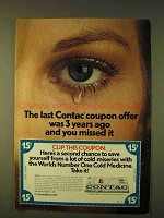 1979 Contac Cold Medicine Ad - Last Coupon Offer