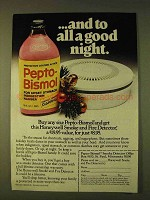 1979 Pepto-Bismol Medicine Ad - And To All A Good Night