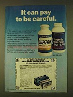 1979 Bufferin Pain Reliever Ad - Can Pay to be Careful