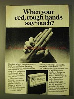 1979 Neutrogena Hand Cream Ad - Red, Rough Hands
