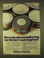 1979 Chicken of the Sea Tuna Ad - Gov't Seal Approval