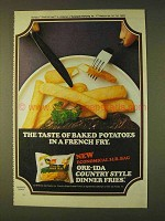 1979 Ore-Ida Country Style Dinner Fries Ad