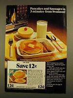 1979 Swanson Pancakes and Sausages Ad - In 3 Minutes