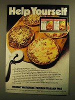 1979 Weight Watchers Frozen Italian Pies Ad