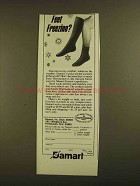1979 Damart Socks Ad - Feet Freezing?