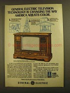 1979 General Electric VIR Television Set Ad