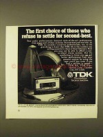 1979 TDK SA Cassette Tape Ad - The First Choice