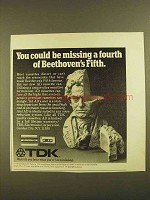 1979 TDK AD Cassette Tape Ad - Missing a Fourth