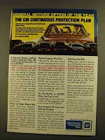 1979 GM Continuous Protection Plan Ad - Option of Year