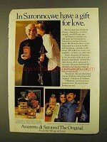 1979 Amaretto di Saronno Ad - A Gift for Love
