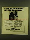 1979 U.S. Department of Energy Ad - I Use the Air Pump