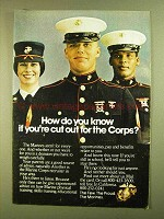 1979 U.S. Marines Ad - Cut Out for the Corps