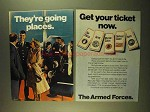 1979 U.S. Armed Forces Ad - They're Going Places