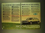 1980 Chevrolet Citation Ad - All These Numbers