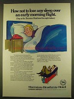 1980 Sheraton-Heathrow Hotel Ad - Not Lose Sleep