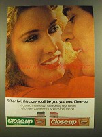 1980 Close-up Toothpaste Ad - Glad You Used