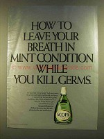 1980 Scope Mouthwash Ad - Breath in Mint Condition
