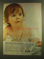 1980 Pampers Diapers Ad - A Drier Bottom