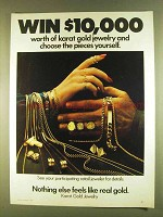 1980 Karat Gold Jewelry Ad - Win $10,000 Worth