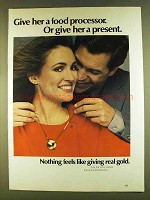 1980 Karat Gold Jewelry Ad - Give Her A Present
