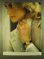 1980 Corum Gold Coin Watch Ad - Five Dollar Gold Piece