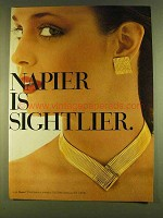 1980 Napier Fashion Jewelry Ad - Napier is Sightlier