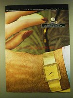 1980 Piaget Watch Ad - Hand and Case in 18K Gold