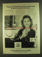 1980 Fortunoff Jewelry Ad - Lauren Bacall - The Blaze