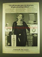 1980 Fortunoff Jewelry Ad - Lauren Bacall - The Gift