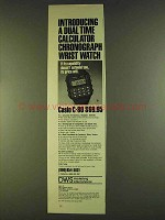 1980 Casio C-80 Calculator Wrist Watch Ad - Dual Time