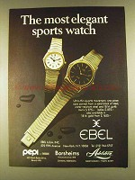 1980 Ebel Watches Ad - The Most Elegant Sports Watch