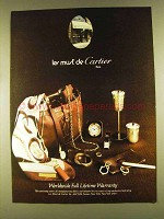 1980 les must de Cartier Ad - Jewelry, Watches