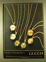 1980 Gucci Sphere Watch Ad - Timely Elegance