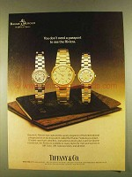 1980 Tiffany & Co. Baume & Mercier Riviera Watch Ad
