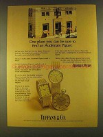 1980 Tiffany & Co. Audemars Piguet Watches Ad - Be Sure