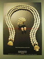 1980 Mikimoto Pearls Ad - As Close to Perfection