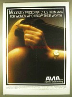 1980 Avia Watches Ad - Women Who Know Their Worth