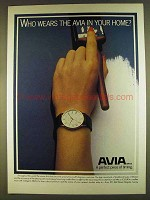 1980 Avia Watches Ad - Who Wears in Your Home