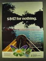 1980 Brazilian Tourism Authority Ad - $847 for Nothing