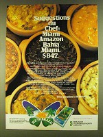 1980 Brazilian Tourism Ad - Suggestions du Chef