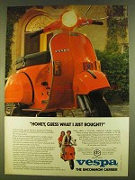 1980 Vespa Moped Ad - Honey, Guess What I Just Bought