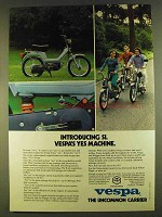 1980 Vespa Si Moped Ad - Vespa's Yes Machine